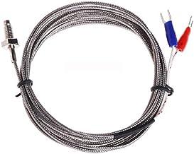 VIDOO Rosca M6 Tornillo Sonda Sensor De Temperatura Termopar Tipo K Cable 2M 0-600 Grados