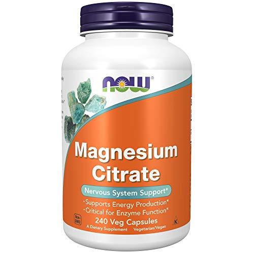 Now Foods, Magnesium Citrate, 400 mg, 240 vegetarische Kapseln, glutenfrei, sojafrei