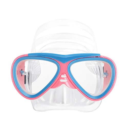 IPENNY - Gafas de natación antirayos UV, gafas de piscina antivaho para niños, gafas de buceo para niños, color Rose + Bleu, tamaño 150 * 65mm
