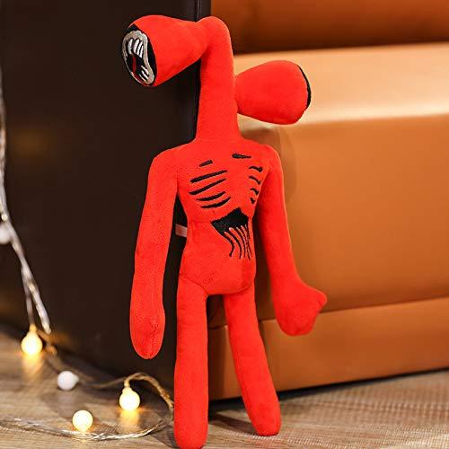 WMSS 15in Juguete de Felpa de Monstruo de Doble Cabeza, Felpa de Gato de Dibujos Animados, Peluche de Peluche, cumpleaños Infantil, Navidad, año Nuevo, Halloween, Regalos de Fiesta,Rojo