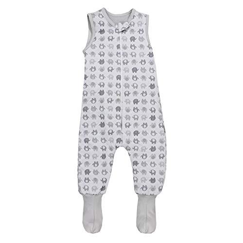 TupTam Baby Winter Schlafsack mit Beinen und Füßen, Farbe: Elefant Grau, Größe: 92-98