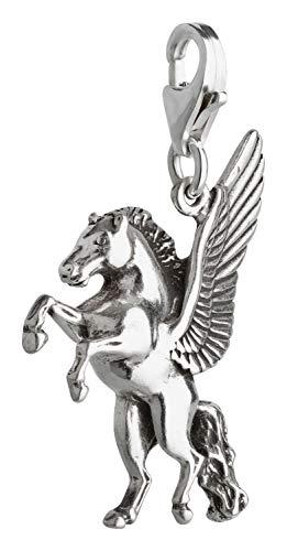 Charm Anhänger Pegasus aus 925 Sterling Silber 2D
