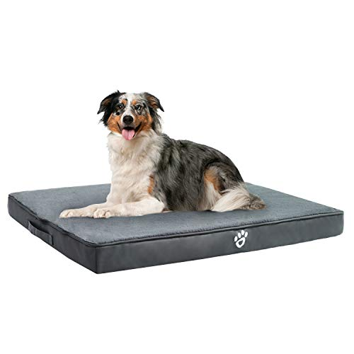TR pet Orthopedic Dog Bed for Joint Pain Relief | Memory Foam Pet Dog Mattress XL/XXL/XXXL for Small, Medium, Large Dogs Crates | Washable Removable Cover | Faux Fur Sleeping Surface Beds launched Newly pets