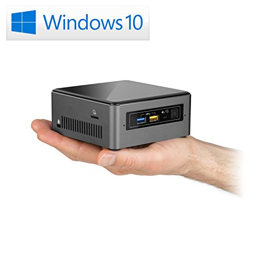 Mini PC - CSL Intel NUC Core i7-8559U inkl. Windows 10 Home - 4X 2700MHz, 16 GB RAM, 500GB M.2 SSD, 1000GB HDD, Intel® Iris HD Graphics 655, USB 3.1, WLAN