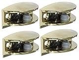 AERZETIX: 4x Soporte para estante de cristal vidrio 8/10mm metálico oro dorado C41592