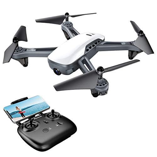 Potensic Drone Dual GPS con Telecamera 1080P HD Camera Grandangolare Regolabile RTH RC FPV WiFi 5.0GHz Quadricottero D50 Mantenere L'Altidutine, Avvio o Atterraggio con Un Pulsante, Seguimi