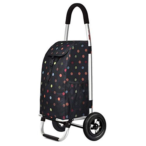 DJY-JY Carro pequeño, Varilla de aleación de Aluminio, Carrito Plegable, Carro hogar, Cesta de la Compra Plegable, tamaño: 48 * 39 * 100 cm.