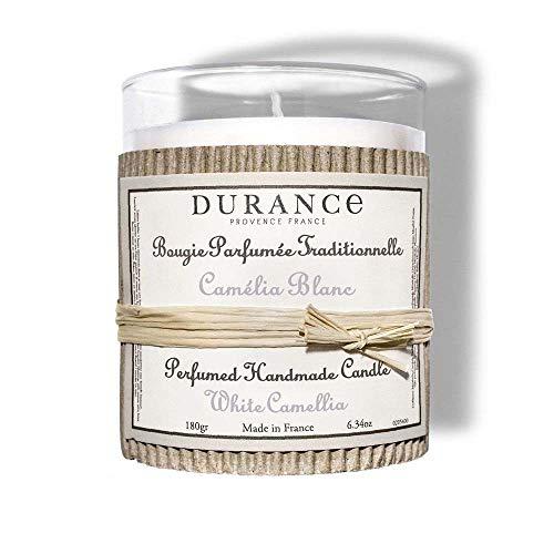 DURANCE Bougie Parfum Camélia Blanc