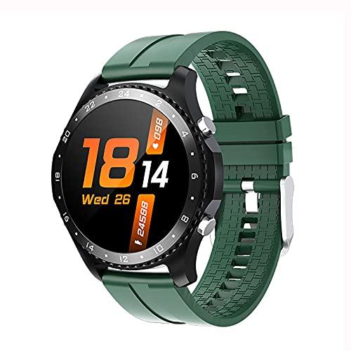 QFSLR Reloj Inteligente para Hombre Ritmo Cardíaco Presión Arterial Sueño Monitoreo Spo2 Rastreador De Ejercicios Llamada Bluetooth Smartwatch Deportivo Impermeable,Verde
