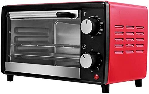 12L Mini horno eléctrico Caja de hornear, control de temperatura de área ancha, accesorios de temporizador también incluidos - Comida automática completa para hornear