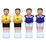 STOBOK Recambio para Jugadores de Fútbol Masculino de Futbolín para Mesa de Fútbol de 1.4M (2pcs Amarillo y 2pcs púrpura) 4 Piezas