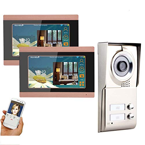 Videoportero de 7 pulgadas, 2 pisos impregnados con wifi IR-CUT HD 1000TVL, cámara récord con botón