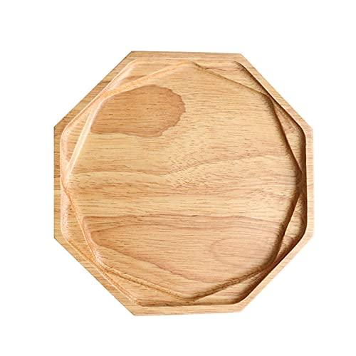 Platos de pan de madera de haya con flores naturales para ensalada de frutas, plato de comida vegetal, bandeja de madera para desayuno, bocadillos, partido aperitivos