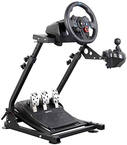 Soporte del volante para Logitech G27 G25 G29 Altura del volante ajustable Plegable, solo soporte para juegos Soporte para ruedas y pedal no incluidos