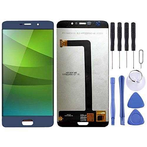 Compatibele Vervangings LCD-scherm en Digitizer Volledige Vergadering for elefoon S7 Accessory (Color : Blue)