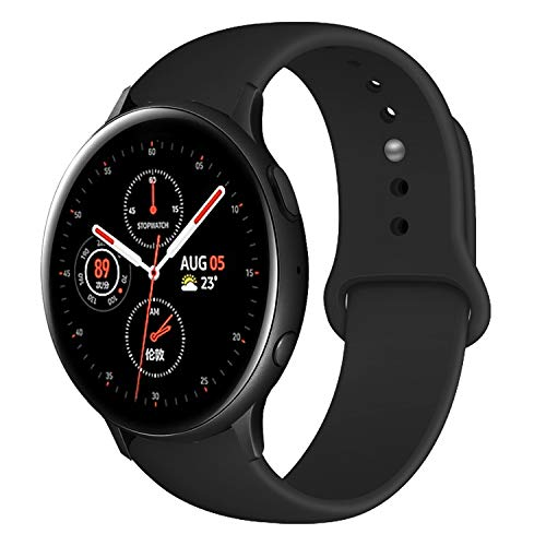 YOUKEX 20mm Soft Silicone Band Compatible with Samsung Galaxy Watch Galaxy Watch 3 41mm/Galaxy Watch Active 2 (40mm)(44mm) 42mm/Classic,Sport Strap Wristband Bracelet for Women Men