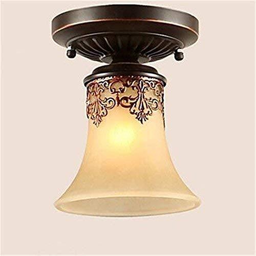 Smart led Modernas Luces de Techo de Cristal LED Lámparas Colgantes de Luces LED Lámparas de Techo de época Clásico Rústico Lodge Vintage Retro Linterna Sala de Estar Dormitorio Comedor, E27