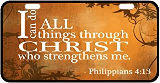 """Christian Bible Verse Jesus Quotes Decorative Front Plate,Car Plate,Car Tag,License Plate Frame 6.1"""" X 11.8"""""""