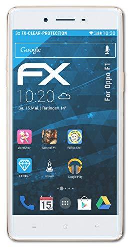 atFolix Schutzfolie kompatibel mit Oppo F1 Folie, ultraklare FX Bildschirmschutzfolie (3X)