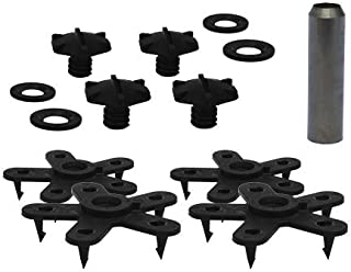 Eagle Klaw - Floor Mat Clips Set of Anti-Slip Fixing Retainers for Car Mats - Made in USA - Black - Pack of 4 for 2 Mats + 3/8