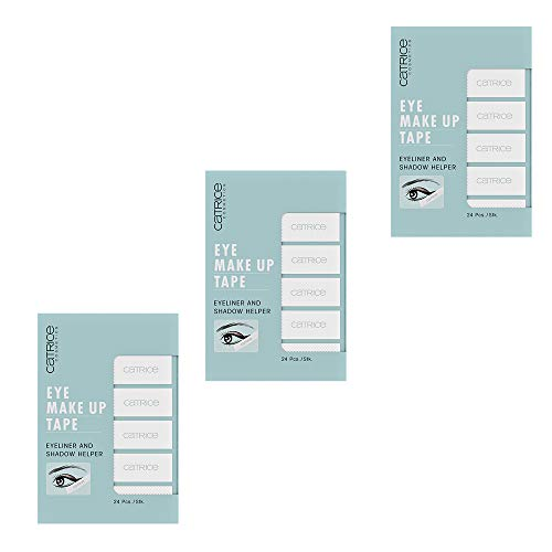 Catrice Eye Make Up Tape, Nr. 010 Shape Tape, weiss, für sensible Augen/Haut, Nanopartikel frei, ohne Parfüm, ölfrei, 3er Pack (3 x 24 Stück)