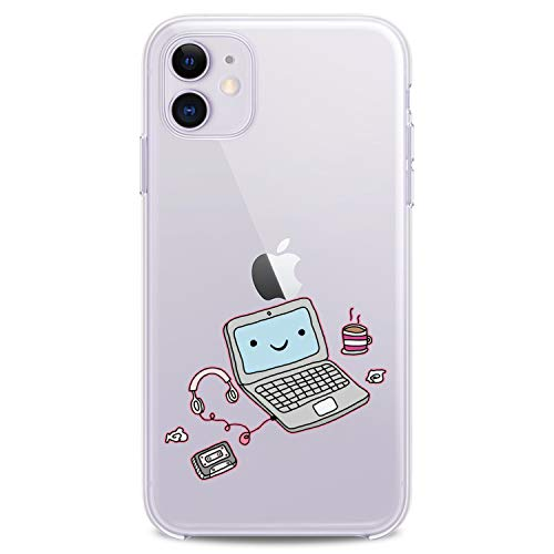 Cavka TPU Case for Apple iPhone 12 Pro Max 2020 Cover 6.7 inch iPh 12 Cute Laptop Gift Accessories Flexible Silicone Design Print Soft Computer Girls Slim fit Coffe Clear Boy Lightweight Woman