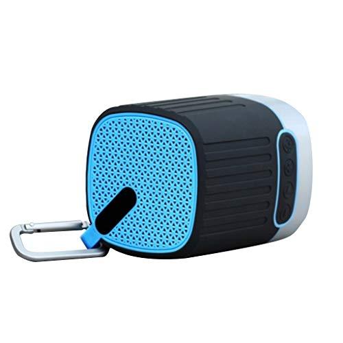 Bluetooth luidspreker, mini draagbare LED waterdichte SD-kaart buitenshuis computer 3W draadloze subwoofer luidspreker Bot (kleur: blauw)