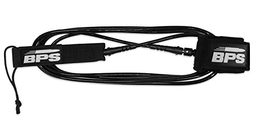 BPS 'Storm' Premium Surfboard Leash, Kink-Free Straight SUP Leash Surf Board Leg Rope Strap for Shortboard, Longboard… 6 THE COMPANY - Helping everyone to 'get out and do' is the reason Barrel Point Surf exists. Created by a Kiwi surfer and caring Dad who loves helping others get out onto and into the water, we're a Mom & Pop business that began with us building surfboards in our garage. Now we are all about helping make water sports accessible, wherever you are in the world. Say yes to barrels, not barriers. THE PRODUCT - BPS 'Storm' Surf or SUP Leash is constructed with max-strength double stainless swivels, triple-wrap rail saver, and precision molded fittings. It's also designed with a super comfy embroidered collar and old-school key pocket. Select from 5 to 10 feet and 7.2mm or 8mm urethane cord. This premium leash is trialed, tested, and thrashed by BPS to make sure it's got what it takes and is built to last with its quality structure and features. HERE TO HELP - Once you've purchased, we'll email you an E-guide with instructions and visuals created by our team to help you install your leash quick-smart. Feel free to send us an email should you need further assistance and we'll respond right away.