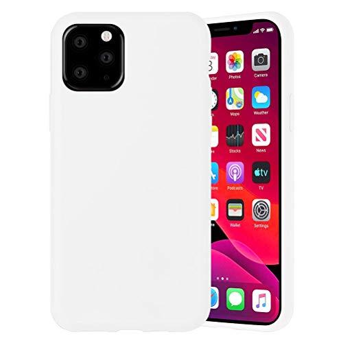 Yoedge Color Sólido Funda para Xiaomi Mi A2 Lite/Xiaomi Redmi 6 Pro 5.84″ Sencillez Carcasa de Silicona Case Protectora de TPU Suave Protección Cover para Xiaomi A2 Lite Teléfono Fundas,Blanco