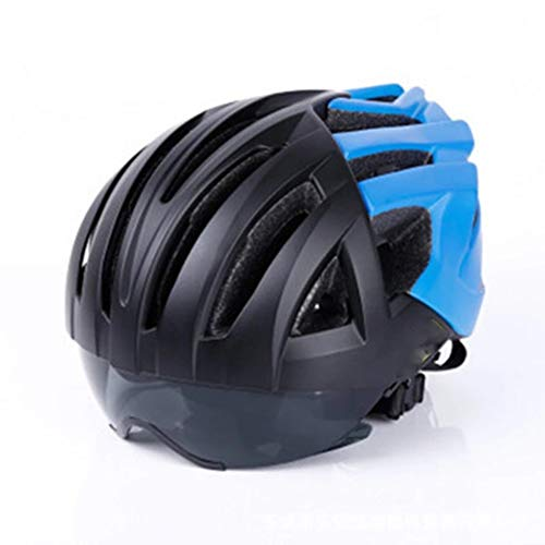 Kinderfietshelm, helm mountainbike rijden ingebouwde aluminium beugelhelm Specialized Cycle Bike Helm met Super Light Integrally Adult Afneembaar Visor