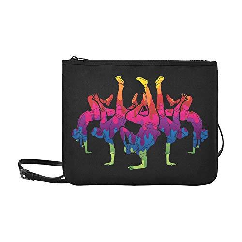 WYYWCY Gruppe Menschen Tänzer Tänzer Action Street Benutzerdefinierte hochwertige Nylon Slim Clutch Cross Body Bag Umhängetasche