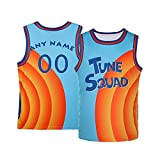 Men's Space 2 Movie 90s Hip Hop Basketball Jersey,Custom Your Name&Number,Play with Superstar King