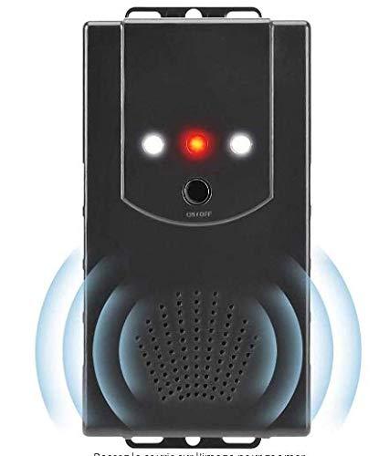 Dissuasore per martore, per auto, con frequenze di cambio ultrasuoni e funzione flash a LED, collegamento a batteria da 12 V per tetto, casa, carport, giardino, magazzino