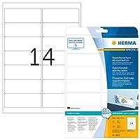 HERMA 10016再配置可能な住所ラベルA4 99、1 x 38、1 mmホワイト可動紙マット350個