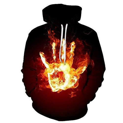 MEN.CLOTHING-LEE Sudadera con Capucha 3D Unisex Novedad Sudadera Personalizada Sudadera con Capucha Elástica con Capucha Palm Flame 6XL