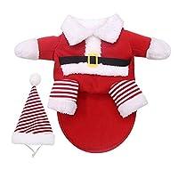 小大犬ペット服猫パーカーペット服のためのペットの犬服クリスマスコートチワワ冬のハロウィンコスチューム 綺麗な (Color : Red, Size : M)