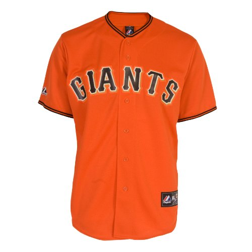 Majestic MLB San Francisco Giants Buster Posey Orange Replica Baseball Trikot, Herren, Orange, X-Large