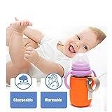 HFXZ2018 Tragbarer Baby-Milchwärmer, Outdoor-Reise-Babyflaschenwärmer, Anti-Rutsch-Anti-Verbrühungs-Thermotaschen für Flaschen,Orange