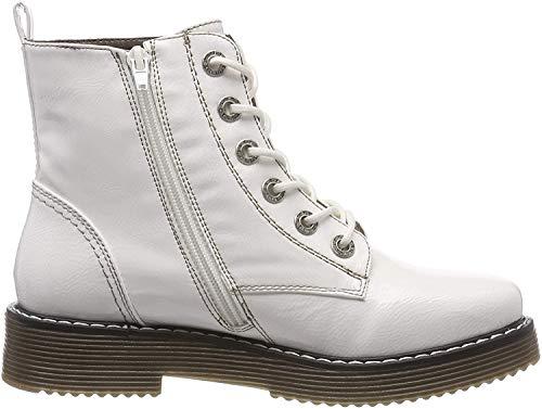bugatti Damen 431549325900 Kurzschaft Stiefel Stiefeletten,  Weiß (Offwhite 2100),  39 EU