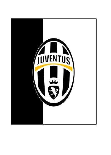 Juventus Plaid Pile, Poliestere, Bianco/Nero