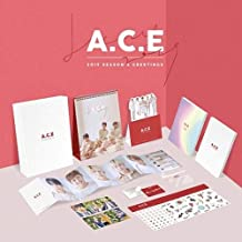 A.C.E 2019 SEASON'S GREETINGS Calendar+Diary+Note+Photo+Sticker+Card+Mirror+etc+Tracking Number K-POP SEALED