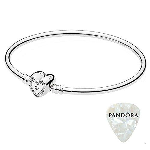 Pandora pulsera, Wishful Corazón 590729CZ, 8.3grande, dos piezas Bundle, con abridor de...