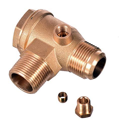 Rückschlagventil 3/4 x 3/4 (26mm x 26mm) Luftkompressor Messing Ventil Verbinder Werkzeug Luft Kompressor zum Verbinden