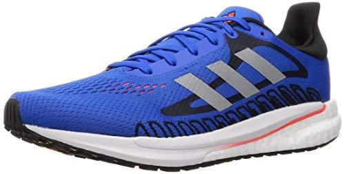 adidas Glide M, Zapatillas para Correr Hombre, Football Blue/Silver Met./Solar Red, 47 1/3 EU