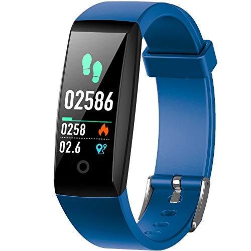 iPosible Pulsera Actividad, Pulsera Inteligente con Pulsómetro Impermeable IP67 Presión Arterial Reloj Inteligente con Cronómetro para Mujer Hombre Niño Pulsera Podómetro para Xiaomi Huawei