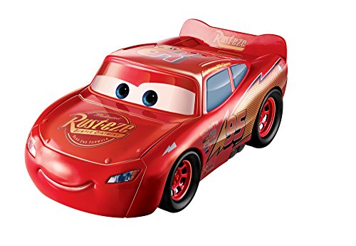 Disney - Cars- Saetta McQueen Veicolo Playset Trasformabile, FCW04