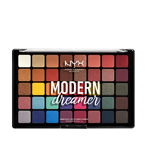 NYX PROFESSIONAL MAKEUP Lidschattenpalette - Modern Dreamer Eye Shadow Palette, satin und matte Eyeshadows, lebendiges Finish, 304 g