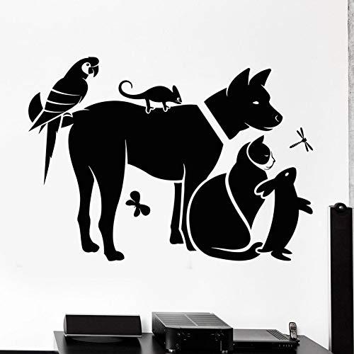 TYOLOMZ Zoo Muursticker Kat Hond Konijn Vogels Huisdieren Winkel Diergeneeskunde Kliniek Kids Kamer Kwekerij Interieur Decor Vinyl Muursticker