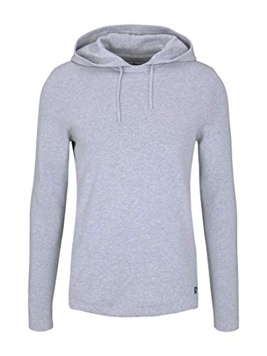 TOM TAILOR Denim Herren Milano Pullover, 15398-Light Stone Grey Melange, XL