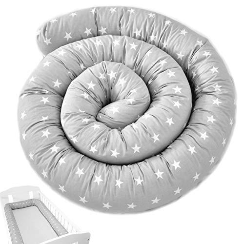 Bettschlange XXL 300cm Bettumrandung Nestchen Schlange Handmade aus Zertifizierte Materialien 100% Baumwolle ekmTRADE (300 cm, 1)